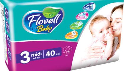 Flovell Baby Midi Подгузниктери (3)