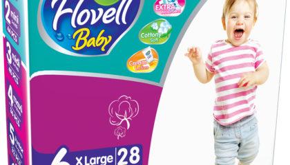 Flovell Baby XLarge Подгузниктери (6)